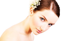 Close up of a beautiful bride Royalty Free Stock Photography