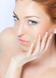 Close-up beautiful bright lady Royalty Free Stock Images