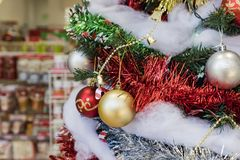 Close up of beautiful christmas decoration. In a store at Arcadai, California, United States Stock Images