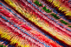 Close-up beautiful colorful extrude abstract background Stock Photos