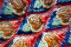 Close-up beautiful colorful extrude abstract background Royalty Free Stock Image