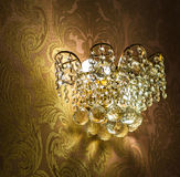 Close-up of a beautiful crystal chandelier Royalty Free Stock Images