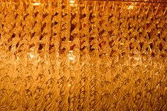 Close-up of a beautiful crystal chandelier Royalty Free Stock Image