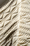 Close up on beautiful detail of woven hand made knit design texture Stock Photos