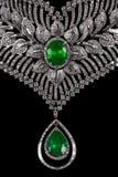 Close up of beautiful diamond necklace Stock Photos