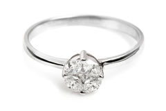 Close up of a beautiful Diamond ring. Royalty Free Stock Images