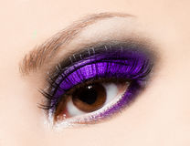 Close-up of beautiful eye Royalty Free Stock Images