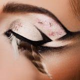 Close-up of beautiful eye stock photography