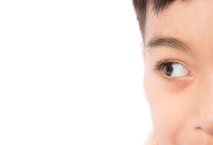 Close up beautiful eyes of boy Royalty Free Stock Photos