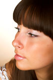 Close-up of a beautiful face Royalty Free Stock Photography