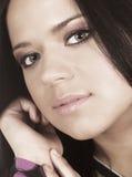 Close-up of a beautiful face Stock Photography