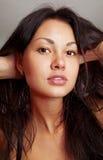 Close-up beautiful face of girl stock image