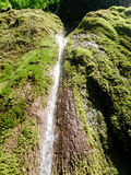 Close up of beautiful and fantastic waterfall in mountain Stock Photo