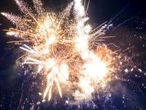 Close-up beautiful fireworks Stock Photo
