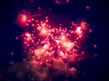 Close-up beautiful fireworks Royalty Free Stock Images