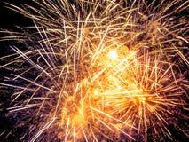 Close-up beautiful fireworks Stock Image