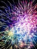 Close-up beautiful fireworks Royalty Free Stock Image