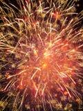 Close-up beautiful fireworks Stock Photography