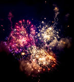 Close-up beautiful fireworks Royalty Free Stock Photos