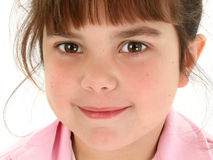 Close Up of Beautiful Five Year Old Girl royalty free stock photography