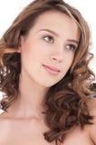 Close-up of beautiful girl with clear maekeup Stock Image