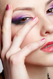 Close-up of beautiful girl Royalty Free Stock Photography