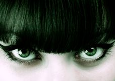 Close-up a beautiful green-eyed girl Royalty Free Stock Images