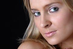 Close up of beautiful green eyes Royalty Free Stock Photos