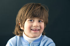 Close-up of a beautiful kid smiling Stock Photography