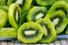 Close up of beautiful kiwi fruit slices background Royalty Free Stock Photos
