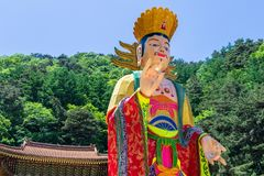 Close up of a beautiful korean and traditional paper figure for festival to celebrate Buddhas birthday. Guinsa, Danyan Region, stock photography