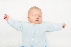 Close up beautiful little baby sleeping Royalty Free Stock Image
