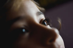 Close-up of beautiful little girl brown eyes Royalty Free Stock Images