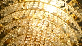 Close up of beautiful luxury chandelier in the church