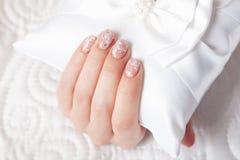 Close-up of beautiful manicured nails Stock Image