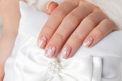 Close-up of beautiful manicured nails Royalty Free Stock Images