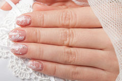 Close-up of beautiful manicured nails Royalty Free Stock Photography