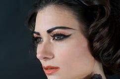Close up of Beautiful Model. Portrait of beautiful caucasian model studio Royalty Free Stock Photos