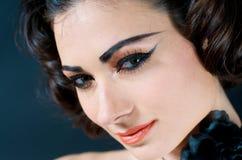 Close up of Beautiful Model. Portrait of beautiful caucasian model studio Royalty Free Stock Images