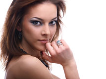 Close-up of beautiful model Royalty Free Stock Photography