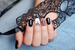 Close-up of beautiful nails Royalty Free Stock Images