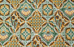 Close up pattern batik fabric Royalty Free Stock Images
