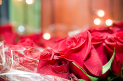 Close-up of beautiful rose bouquet Royalty Free Stock Photos