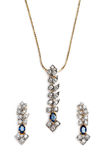 Close up of beautiful Sapphire Diamond necklace. Royalty Free Stock Image