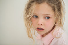 Close-up of a beautiful serious young girl Royalty Free Stock Image