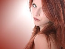 Close Up of Beautiful Seventeen Year Old Redhead Teen stock photography