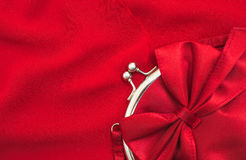 Close up of beautiful small red female purse Stock Photo