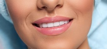 Close up of beautiful smile royalty free stock images