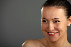 Close-up of beautiful smiling woman face Stock Photo