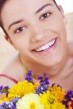 Close-up of beautiful soft face Stock Image